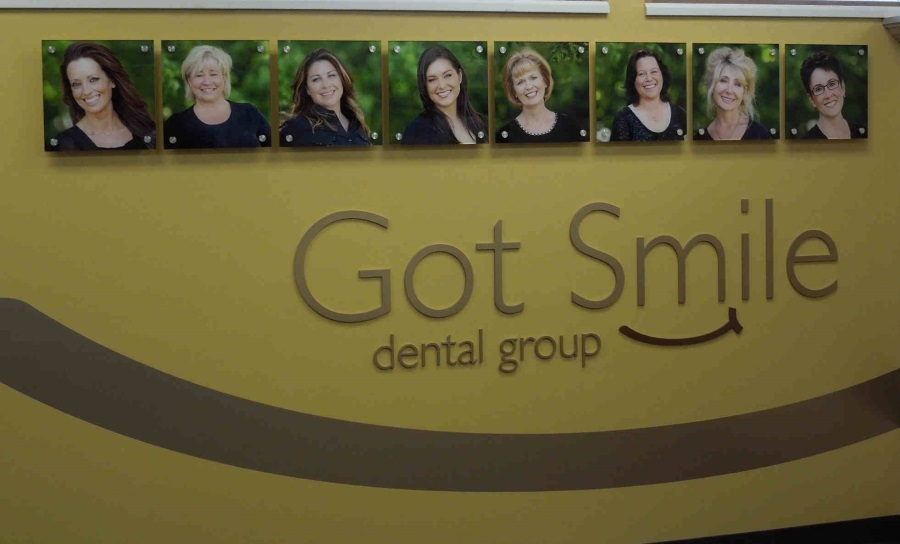 Interior flat cut out letters for Got Smile Dental Group