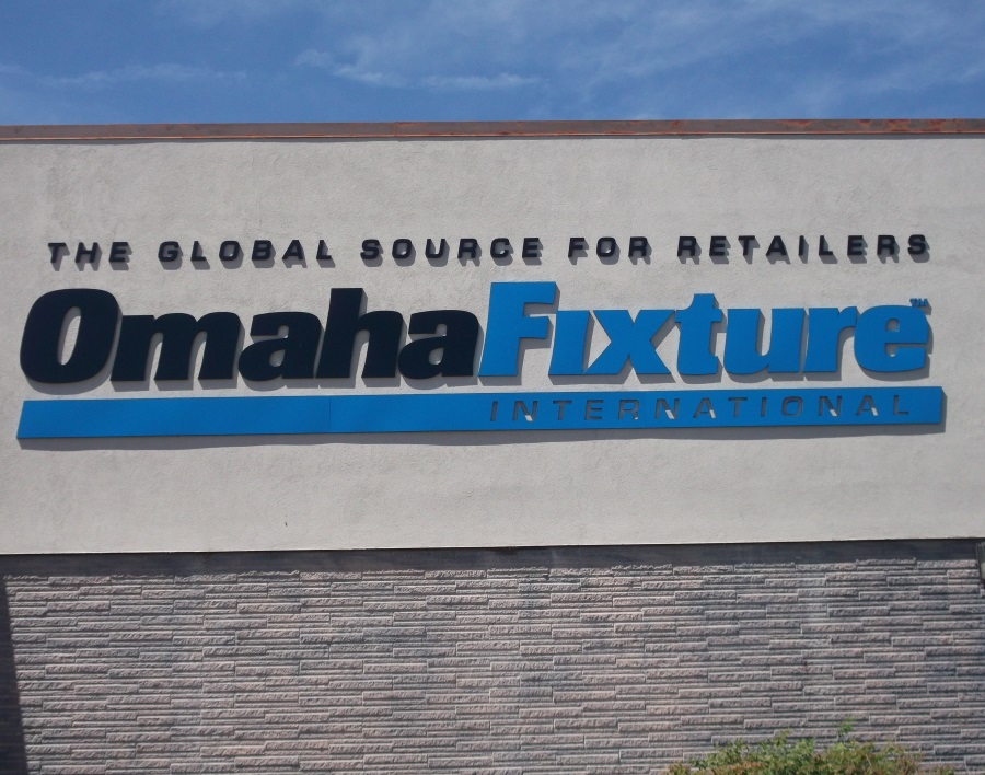 Non-illuminated flat cut out letters for Omaha Fixture