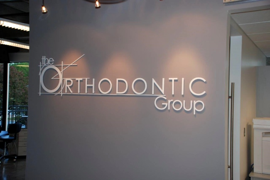 Interior flat cut out letters for The Orthodontic Group
