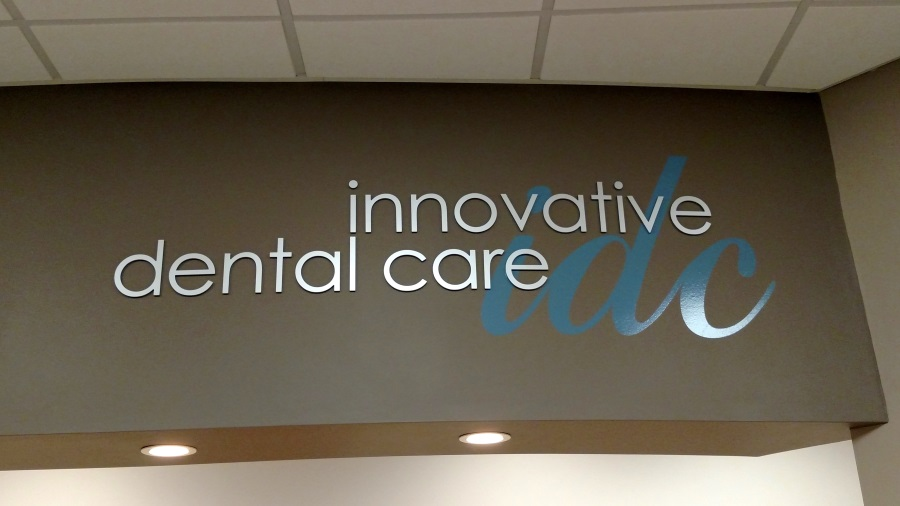 Interior flat cut out letters and vinyl for Innovative Dental Care