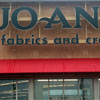Illuminated JoAnn Fabrics and Crafts channel letters